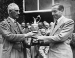 Henry Cotton and claret jug